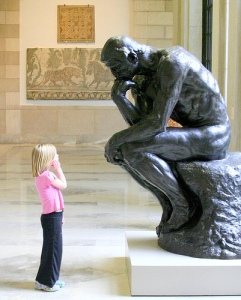 thinker little girl